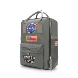womens backpacks zippers NZ - Designer-Brand New NASA Backpack 19ss National Flag Designer Backpack Mens Womens Designer Bags Unisex Students Bags