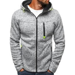 Wholesale Mens Zipper Hoodies Australia - NIBESSER Mens Fashion Hooded Sweatshirt Plus Size Zipper Hoodies Coat Men Sweatershirt Jackets Causal Streetwear Hip Hop Tops