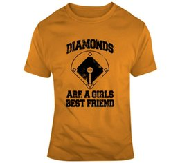 5914b01e Diamonds Are A Girls Best Friend T Shirt, Softball Tee Funny free shipping  Unisex Casual top