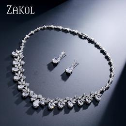$enCountryForm.capitalKeyWord Australia - ZAKOL Brand Sparkling Cubic Zirconia Jewelry Sets Fashion Flower Africa Set For Elegant Women Bridal Wedding Party Dress FSSP170