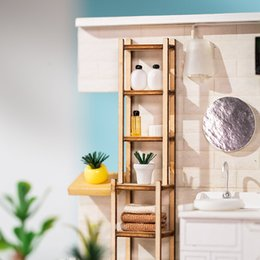 handmade wooden dolls house NZ - Handmade Doll House Furniture Miniatura Diy Doll Houses Miniature Dollhouse Kitchen Wooden Toys For Children Birthday Gift