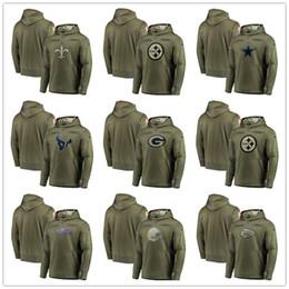 SweatShirt bear online shopping - Green Bay Chicago Packers Bears Minnesota Kansas City Viking Chiefs Pullover Houston Sweatshirt Texans Salute to Service Olive Men Hoodie