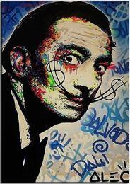 Graffiti Canvas Wall Decor Australia - Alec Monopoly Banksy High Quality Handpainted Abstract Graffiti Art Oil Painting Salvador Dali On Canvas Wall Art Home Office Decor g121