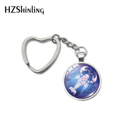 Electronics Signs UK - 2019 New Arrival 12 Zodiac Cancer Pisces Virgo Heart Key Chains Zodiac Sign Horoscope Key Rings Silver Bag Holder Keychains