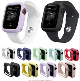 Discount tpu iwatch - Watch Case for iWatch Series 1 2 3 4 Cover Fall Resistance Soft TPU Silicone Case for Apple Watch 44mm 40mm 38mm 42mm Co