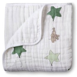 infant baby sheet Australia - adamant ant aden anais 2 Layers Blanket Swaddleing Infant Cotton Bedding Sheet Muslin Travel Blanket for Babies For Newborn