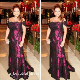 elegant mother bride dresses petite UK - Elegant Off The Shoulder Mother Of The Bride Dresses Black Lace Short Sleeve Long Evening Party Gowns Wed Guests Dress ED1191