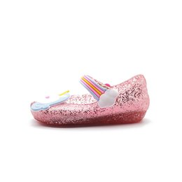 cute toddler girl shoes UK - Style Cute Unicorn Jelly Sandals New Girls Shoes Jelly Shoes Dargon Sandals Girl Non-slip Kids Sandals Toddler