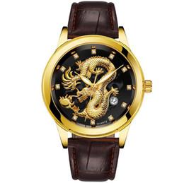 $enCountryForm.capitalKeyWord Australia - Fashion Steel Strap Luxury Calendar Watch Men Creative Dragon Quartz watch Casual Male Sports Masculino Business Wristwatch Clock 9 Style
