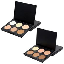 Powder Makeup Palette UK - Factory Wholesale 6 Colors Concealer Cream MINI Face Highlighter Bronze Powder Camouflage Cream Contour Palette +1PC Quality Makeup Brush
