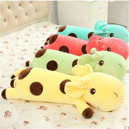 Toy boy movie online shopping - Giraffe Plush Toys Sleeping Stuffed Doll Cute Boy And Girl Birthday Gift cm cm cm Yellow Green Red my D1