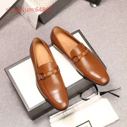 Genuine Leather Cap NZ - 2018 Luxury Brand New Designer Upscale Men Business Formal Shoes Genuine Leather Men Dress Shoes With Buckle Office Shoes 38-44