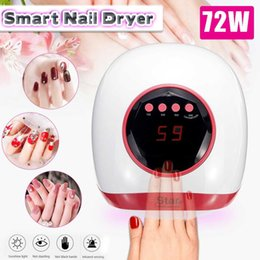 Uv nail gloves online shopping - UV Nail Lamp Dryer W LEDs Infrared Sensing Painless Mode Manicure Kit Set US EU Plug Manicure Tool Stickers Anti uv Gloves