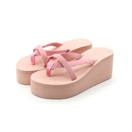 platform slippers Australia - Hot Sale-2019 New Women Summer Flip Flops High Heel Slippers Platform Wedge Sandals Street Shoes WML99