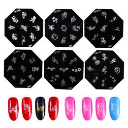 Cartoon Stamping Australia - Nail Stamping Plates Set 6pcs 9pcs accessoires for nail stamper nails arts pretty stencil cartoon decorations born design