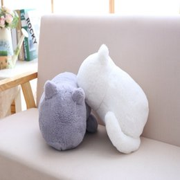 wholesale stuffed animal cat Australia - Cartoon Cat Plush Decorative Throw Pillow Cushion Plush Stuffed Animal Toy Doll Filling With PP Cotton Decor