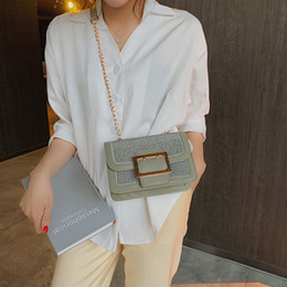 Luxury Chains Australia - New Designer Crossbody Bag Ladies Chain Shoulder Messenger Bags fashion brands diamonds bags 2019 Luxury Small Square Bag