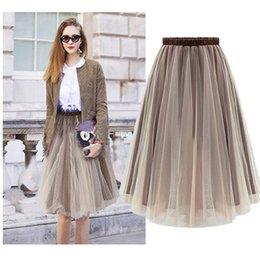 Wholesale new lady s gown resale online - Skirts For Women Shipping Free New Lady Skirt Midi Women Skirts Spring Fasion Brown Saias Femininas Formal Faldas Female Skirt