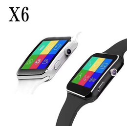 Bluetooth Smart Watch Sim Australia - X6 Smart Watches With Camera Touch Screen Support SIM TF Card Bluetooth Smartwatch For Iphone X Samsung s9 Phone goophone with Retail Box
