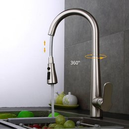 $enCountryForm.capitalKeyWord Australia - Quality Brushed Nickel   Chrome Kitchen Faucet Single Handle Hole Vessel Sink Mixer Tap Hot Cold Tall Pull Out Sprayer Sink Mixer Tap