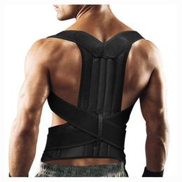 Discount posture support brace women - Upper Back Pain Posture Corrector for Men Body Shapers 4XL Shoulder Support Belt Adult Kids Spine Protector Lumbar Brace