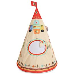 TenTs house online shopping - Toys Tent Fairy Tale Cartoon Feather Printing Beach House Camping Children Dollhouse Indoor Game Toy Portable Hot Sale kk N1