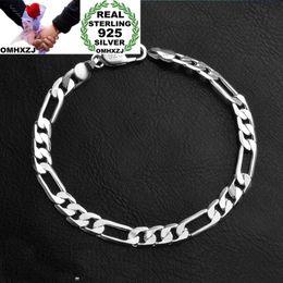 925 thick silver bracelet online shopping - OMHXZJ Personality Fashion OL Man Party Wedding Gift Silver Flat Chain Thick Sterling Silver Bracelet BR119