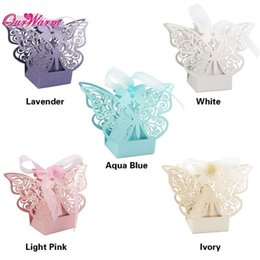 butterfly gift box for favors Australia - Wholesale-50pcs lot Candy Box Wedding Gift Butterfly Decorations for Wedding Candy Bag Gifts for Guests Favors Bags Event Party Supplies