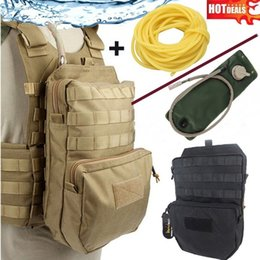 Wholesale tactical vests military resale online - SPANKER Nylon Outdoor Training Hydration Bag Military Molle Tactical Vest Camping Hunting Accessories Bags