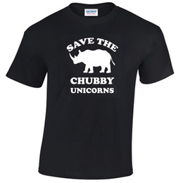 cheap t shirts wholesale purple UK - Save The Chubby Unicorns Mens Funny T Shirt S-5XL rhino gift unicorn gift summer o neck tee, free shipping cheap tee