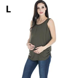 cheap sports vests UK - 2018 New Summer Cotton Maternity Nursing Tank Top Clothes Pregnancy Breastfeeding T Shirt Cheap Maxi Feeding Vest