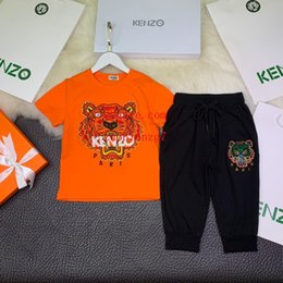 Boy Brand T Shirt Australia - 2019 new Spring boy girl tracksuits Letter printing t-shirt long Pants Two-piece Suit Kids Brand Children's 2pcs Cotton Clothing Sets m-s7
