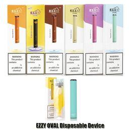 Großhandel Ezzy OVAL Einwegvorrichtung Pod Starter Kit Upgrade 280mAh Akku 1,3 ml Kartuschen Vape Pen VS Puff Plus-Bar POP