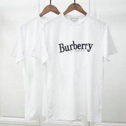 TshirT london online shopping - Designer Brand Mens T shirts Luxury Tshirt Fashion Classic embroidery letter england of london BUR T Shirt Clothing casual Tee Tops