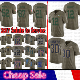 Green Bays Packers 2017 Salute to Service Jersey 12 Aaron Rodgers 21 Ha Ha  Clinton-Dix 52 Clay Matthews St.louis Rams Nelson 30 Todd Gurley 95f6f53c2