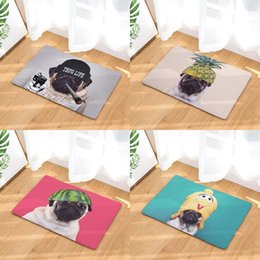 $enCountryForm.capitalKeyWord Australia - Cartoon Pug Bad Dog Puppy Doormat Bath Kitchen Carpet Decorative Anti-Slip Mats Room Car Floor Bar Rugs Door Home Decor Gift