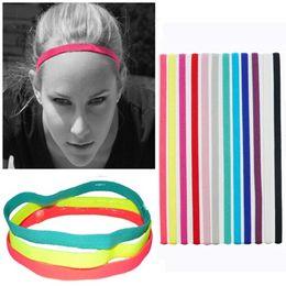 $enCountryForm.capitalKeyWord Australia - Sport Elastische Hoofdband Softbal Rubber Plastic Siliconen Haarband Bandage Op Hoofd Gum Voor Hair Bands LE257