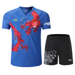 Wholesale T-shirt da tavolo T-shirt National Team Competition Indossa CP Player Edition Top 12 Chinese Dragon Sports Wear, T-shirt Badminton, Camicia da tennis