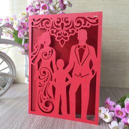 $enCountryForm.capitalKeyWord Australia - 35PCS Sweet Family Lovely Wedding Invitation Card Engagements Invitations Family Dinner Dress Invitations Decoration And Happiness Blessing