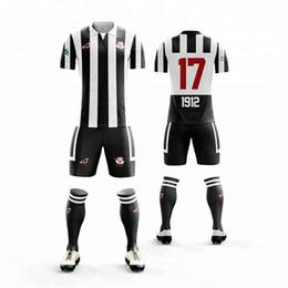 2b731255072 Free Shipping Custom Soccer Jersey design stipe football jerseys football  Uniform Breathable Quick Dry Soccer shirt team Soccer suits
