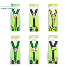 $enCountryForm.capitalKeyWord Australia - Kid Cartoon Suspenders Children strap Elastic Y-back 12 colors for baby Clip-on students Christmas gift Free TNT Fedex