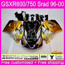 97 Srad Fairings UK - Body For SUZUKI SRAD GSXR 750 600 1996 1997 Golden black 1998 1999 2000 Kit 1HM.2 GSX-R750 GSXR-600 GSXR750 GSXR600 96 97 98 99 00 Fairing