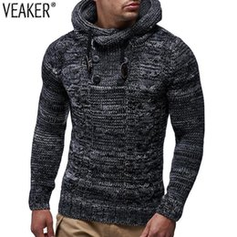 Honest 2019 Winter Thick Sweaters Jacket Male Solid Color Slim Fit Wool Fur Sweater Outerwear Autumn New Mens Hooded Sweater Coat Cardigans