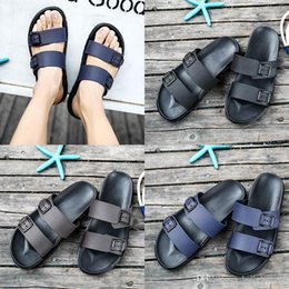 Brown Beach Sandals Australia - fashion designer luxury sandals Brand Slippers Blue black Brown Shoes Man Casual Shoes Slippers Outdoor Beach Slippers EVA light Sandals