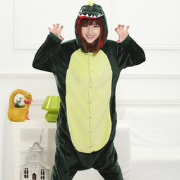 adult anime games Australia - Green Dinosaur Adult Kids Winter Pajamas Anime Costume Flannel Cosplay Cartoon Pyjamas Halloween Carnival Jumpsuit Masquerade Onesies