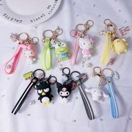 StereoScopic bag online shopping - PVC Cartoon Pudding Dog Keychain Lovely Candy Color Stereoscopic DIY Keys Buckle Bag Pendant Exquisite New Arrival yy I1
