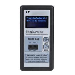 Опт Freeshipping многофункциональный ЖК-подсветкой транзистор тестер диод тиристорный емкость метр ESR LCR метр с серый пластиковый корпус