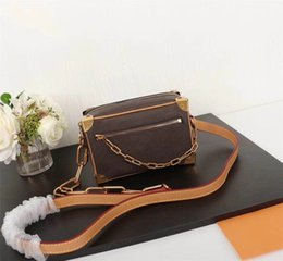 open box mini NZ - Mini soft trunk designer satche Designer clutch Box Original Handbags Evening Bags Leather purse Fashion Box Brick Messenger Shoulder Bag