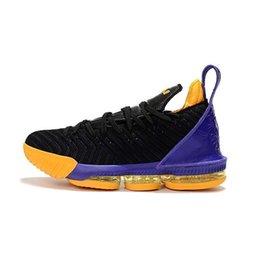Новые мужские lebron 16 баскетбольная обувь черное золото тройной Белый команда красный серый свежий разводят 1 Через 5 MVP Чемпионат кроссовки теннис