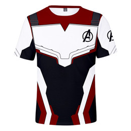 print style mens t shirts 2019 - Marvel Movie Avengers Endgame Short Sleeve T Shirt Quantum Warfare Mens 3d Print t-shirt Summer Cool Tshirt 8 Styles che